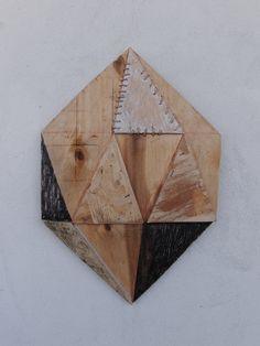 Штопанный алмаз, (дерево,акрил).