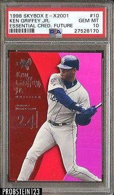 1998 Skybox E-X2001 Essential Credentials Future Ken Griffey Jr. HOF /91 PSA 10 #BaseballCards