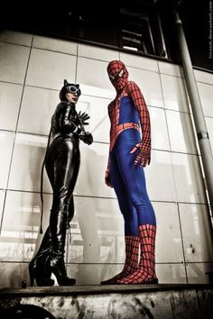 Spidey and Catwoman they should make a movie with both of them , would'nt  they make a beautiful couple?
