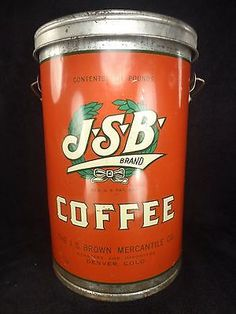 JSB Brand Coffee Vintage Soul, Vintage Tins, Vintage Coffee, Antique Coffee Grinder, Coffee Grinders, Coffee Stands, Coffee Tin, Coffee Is Life, I Love Coffee