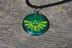 Legend of Zelda necklace by zeldalilly on Etsy, $15.00