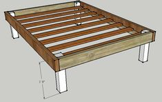 Make Your Own Platform Bed | Building A Queen Bed Frame Plans storage locker plans