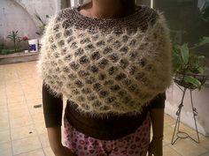 Chal adulto tejido en dos agujas y crochet