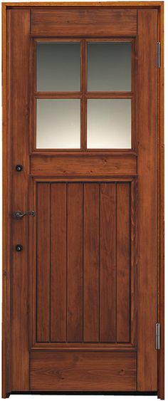 日本製のヨーロピアン風木製玄関ドア。使えば使うほど愛おしい「経年美」。 #玄関ドア