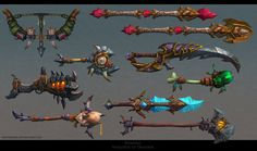 ArtStation - Weapons from World of Warcraft , First Keeper