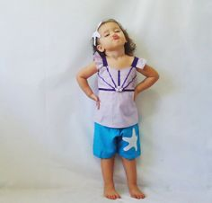 Little Mermaid Ariel Set - Top and Bottom - Every Day use size 18M - 5T on Etsy, $32.00
