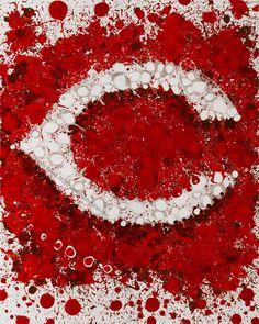Cincinnati Reds Abstract Art ...BTW,Please see: http://artcaffeine.imobileappsys.com