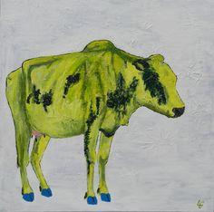 Hellig ko med blå sko 60.60