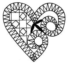 Lace Heart, Lace Jewelry, Lace Patterns, Bobbin Lace, Lace Detail, Drawing Ideas, Projects To Try, Butterfly, Symbols