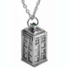 Novelty Doctor Who Vintage Personalized Gift 3D Tardis Carved Police Box Pendant Charm Long Chain Necklace