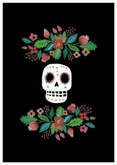 50 Super Ideas Mexican Art Tattoo Day Of The Dead Sugar Skull Mexican Skulls, Mexican Folk Art, Bar Mexicano, Mexican Art Tattoos, Catrina Tattoo, Bd Art, The Dark Side, Day Of The Dead Art, Deco Boheme