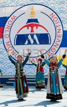 buryat: UULAN-UDE, RUSSIA - JULY 16  The 4th General Session of the World Mongolians Convention  Artists of Buryat state song and dance company  Baikal  perform on July 16, 2010 in Ulan-Ude, Buryatia, Russia