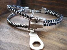 DRAGON SKELETON-steampunk high-quality vintage silver metal zipper bracelet - Neo Victorian - Jewelry. $12.00, via Etsy.