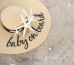 This new couple (who must remain anonymous until the announcements go out) have such a great sense of humor! Beach Pregnancy Announcement, Baby Announcement Pictures, Baby Announcements, Newborn Photos, Baby Photos, Baby Girls, Baby Baby, Beach Portraits, Newborn Outfits