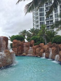 At the Trump International Miami in Sunny Isles, Florida, the beautiful pool is a giant complex of pools and hot tubs that overlook the ocean, with waterfalls and air-conditioned cabanas.