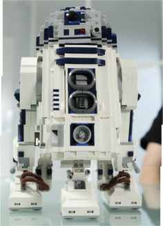 An upcoming Star Wars Lego set to be released in May. It has a retractable third leg that can be dropped with a rear switch and rotating dome head. This set is over 12 inches (31cm) high and 7 inches (18cm) wide.