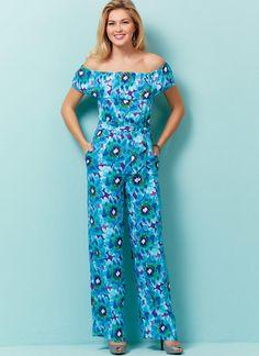 Butterick B6566 Misses'/Misses' Petite Dress, Romper, Jumpsuit And Sash #sewingpattern