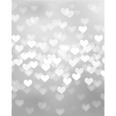 Silver Heart Bokeh Printed Backdrop - Photobooth option, just wait for a sale!
