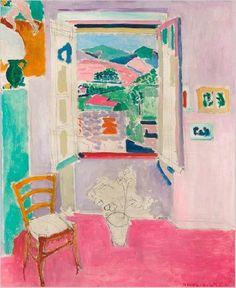 Henri Matisse- La Fenêtre Ouverte, oil on canvas, 1911 http://paintwatercolorcreate.blogspot.com/2014/08/matisses-windows.html