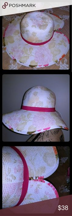 NWOT spring/summer hat 100% paper. Excellent condition  Never worn  Perfect for the beach, a tea party, or a day in the sun! Collectioneighteen Accessories Hats