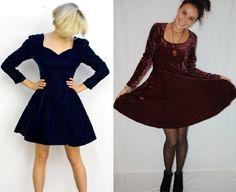 Vestidos de inverno - couro e veludo - VilaMulher