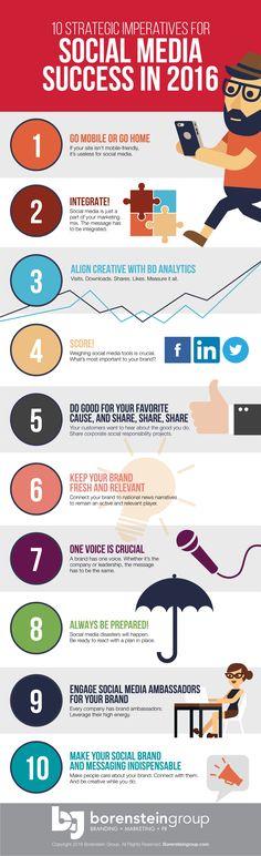 10 estrategias imprescindibles para el éxito en Redes Sociales #infografia #socialmedia | TICs y Formación
