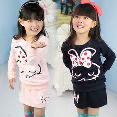 Aliexpress.com   Buy 2014 spring and autumn girls clothing child cartoon  sweatshirt short skirt. Feminínna Móda 4f98d3b9c0