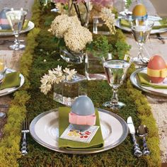 Easter luncheon table