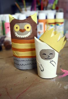 TP ROLL CHARACTERS Where the Wild Things Are by artist/instructor K. Day June 2013 for Summer Art Class