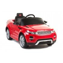 LAND ROVER- RANGE ROVER EVOQUE 6V RIDE ON CAR IN RED   This children's 6v Range Rover Evoque ride on car offers unbeatable value for money. Branded with official badges, the Range Rover Evoque kids ride on toy is a genuine replica product complete with the much sort after features such as remote control, MP3 input, lights, key start and more.