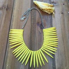 A personal favorite from my Etsy shop https://www.etsy.com/listing/266404732/bright-yellow-howlite-spike-colorful