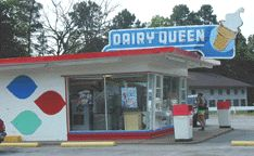 The Dairy Queen - one of two drive-in's in our small southern Oregon town where I grew up.
