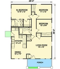 1064sf,3,2,basement opt....Craftsman Starter Home - 12727MA | Architectural Designs - House Plans