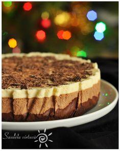 Trijų šokoladų tortas | Saulėta virtuvė