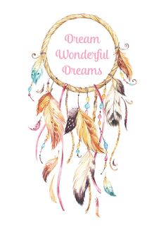 Dream Wonderful Dreams Wall Print Printed in A4 by PurelyInknPaper