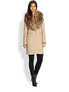 We love this lavish #coat with #fur trimming for #fall almost as much as our rich Cabernet Sauvignon!