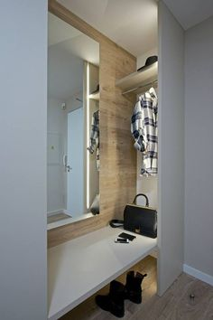 Entryway. Clothes hanging idea.