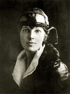 Amelia Earhart  what courage...and she was long before her time!