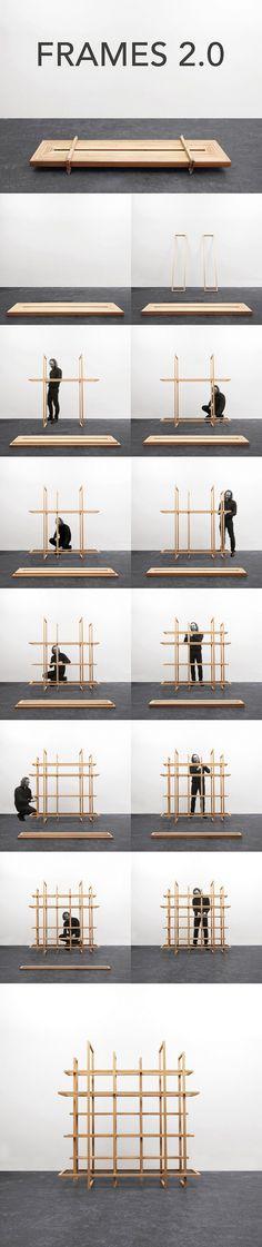 Frames 2.0 Wooden Shelf by Gerard de Hoop