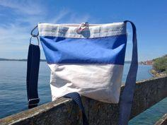 Sailcloth Bag / Sail Bag/ from RoughElement by DaWanda.com Segel Outfit, Hannah Design, Sailing Outfit, Diy Bags, Bag Design, Sailboat, Bag Making, Wristlets, Tote Bags
