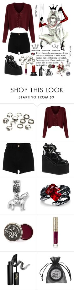 """""""Untitled #232"""" by stopcallinme ❤ liked on Polyvore featuring River Island, Demonia, 3.1 Phillip Lim, BillyTheTree, By Terry, INIKA, Manic Panic NYC and Bare Escentuals"""