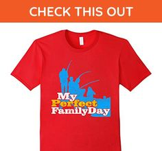 Mens Family Shirt - My Perfect Family Day Fishing T-Shirt Small Red - Relatives and family shirts (*Amazon Partner-Link)
