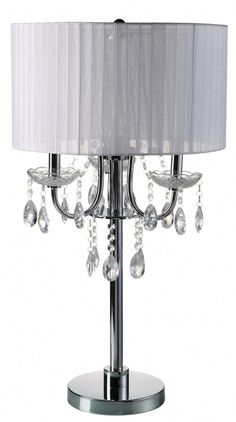 House of Hampton Euston Crystal Table Lamp House of Hampton Shabby Chic Lamps, Shabby Chic Furniture, Touch Lamp, Buffet Lamps, Table Lamp Sets, Lamp Bulb, Lamp Shades, My New Room, Chandelier Lighting