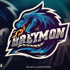 Game Logo Design, Symbol Design, Logo Design Services, Dragon Illustration, Creative Illustration, Esports Logo, Sports Team Logos, Fire Art, Cartoon Faces
