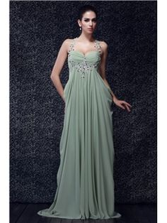 Brilliant A-line Straps Sleeveless Floor-Length Court Ruffles Taline's Evening/Prom Dress