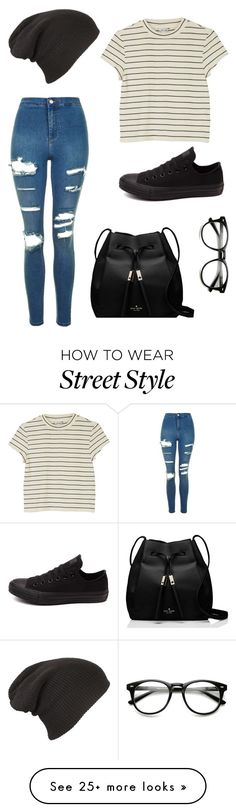 """""""Casual day?"""" by auroraliu on Polyvore featuring Topshop, Monki, Converse and Kate Spade"""