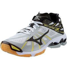 NEW at All Volleyball! Mizuno Women's 430186 Wave Lightning Z in White/Black $109.95