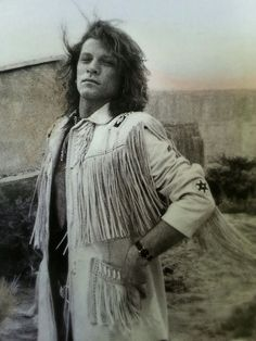 Super rare B&W photo of Jon Bon Jovi circa 1990