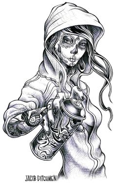 Gypsy Gangsta Girl Tattoo Design