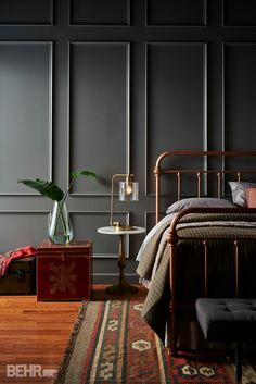 Behr hot and spicy color Fashion Color Trends AW translated into Interior Design - Eclectic Trends Behr Colors, Grey Paint Colors, Dark Interiors, Interiores Design, Interior Inspiration, Design Inspiration, Home Interior Design, Interior Paint, Bedroom Decor